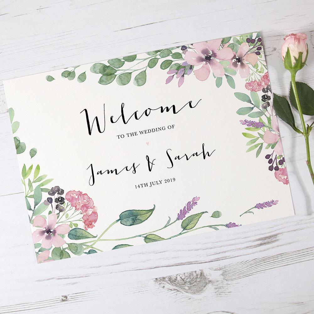 'Chloe' Welcome Sign - A6/A5/A4/A3