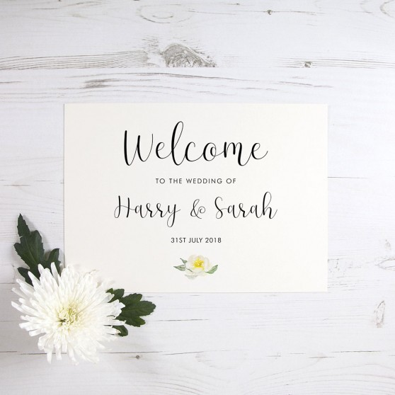 'Dahlia Rose' Welcome Sign - A6/A5/A4/A3