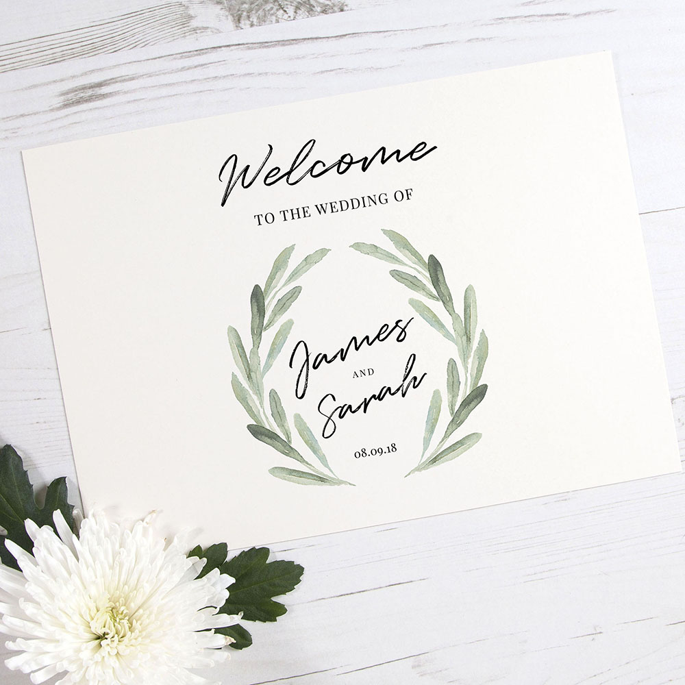 'Olive' Welcome Sign - A6/A5/A4/A3