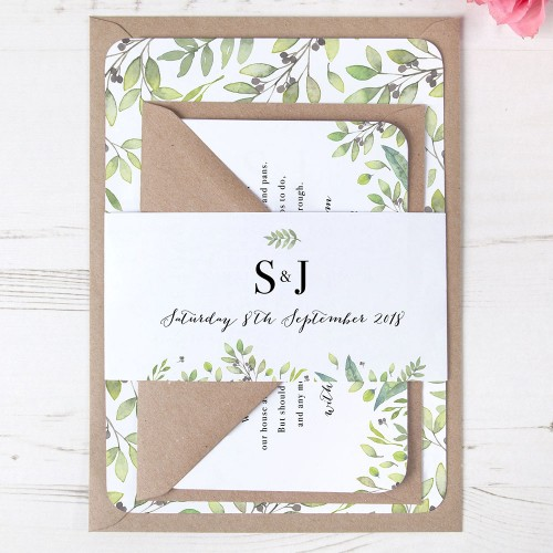 'Arabella' Sleeve Invite