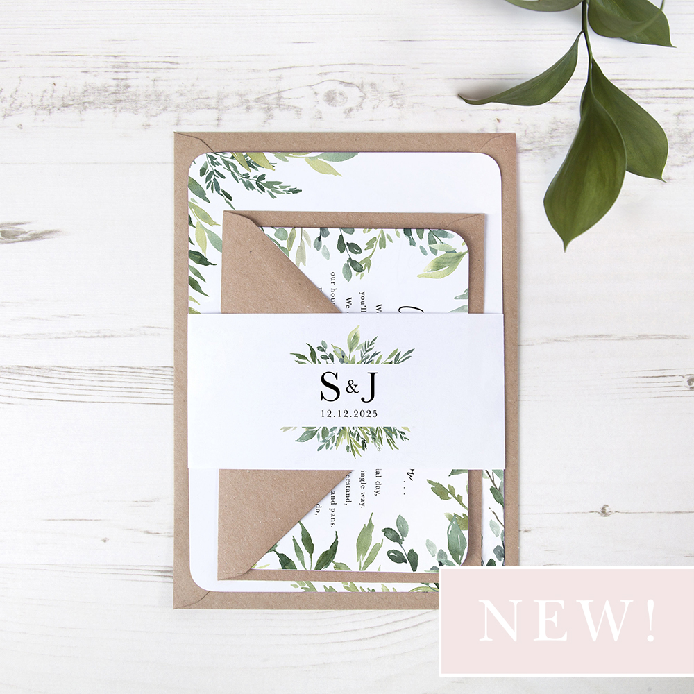'Back to Nature' Sleeve Invite