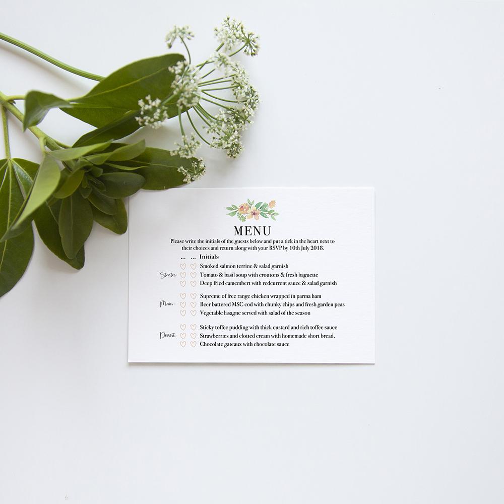 'Bella' Sleeve Invite