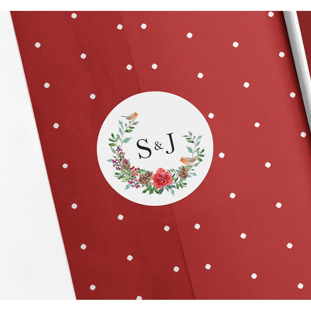 'Christmas Holly' Sleeve Invite