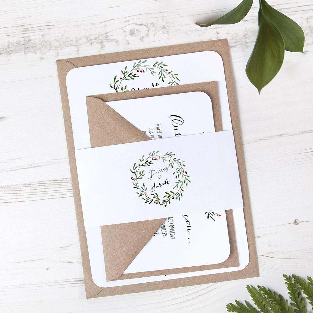 'Christmas' Sleeve Invite Sample