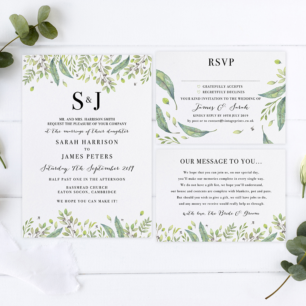 'Imogen' Sleeve Invite