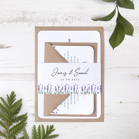 'Lavender' Sleeve Invite