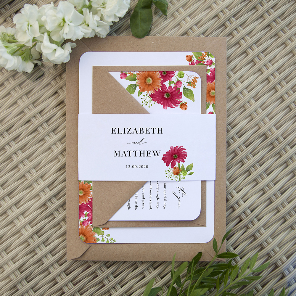 'Matilda' Sleeve Invite Sample
