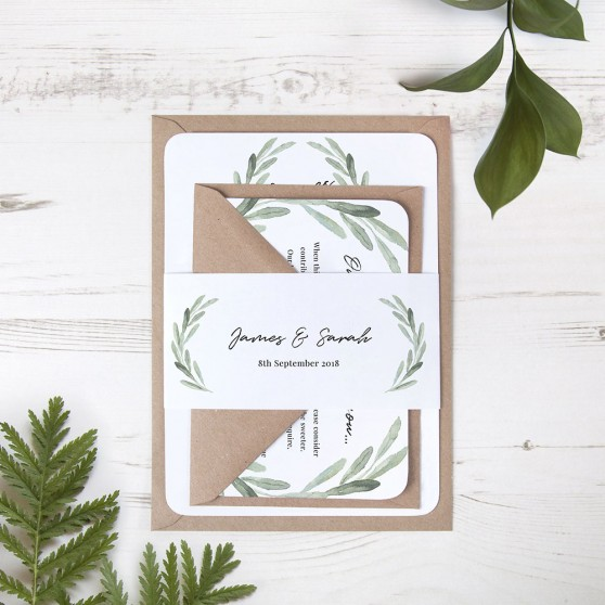 'Olive' Sleeve Invite Sample