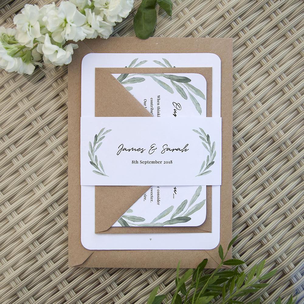 'Olive' Sleeve Invite