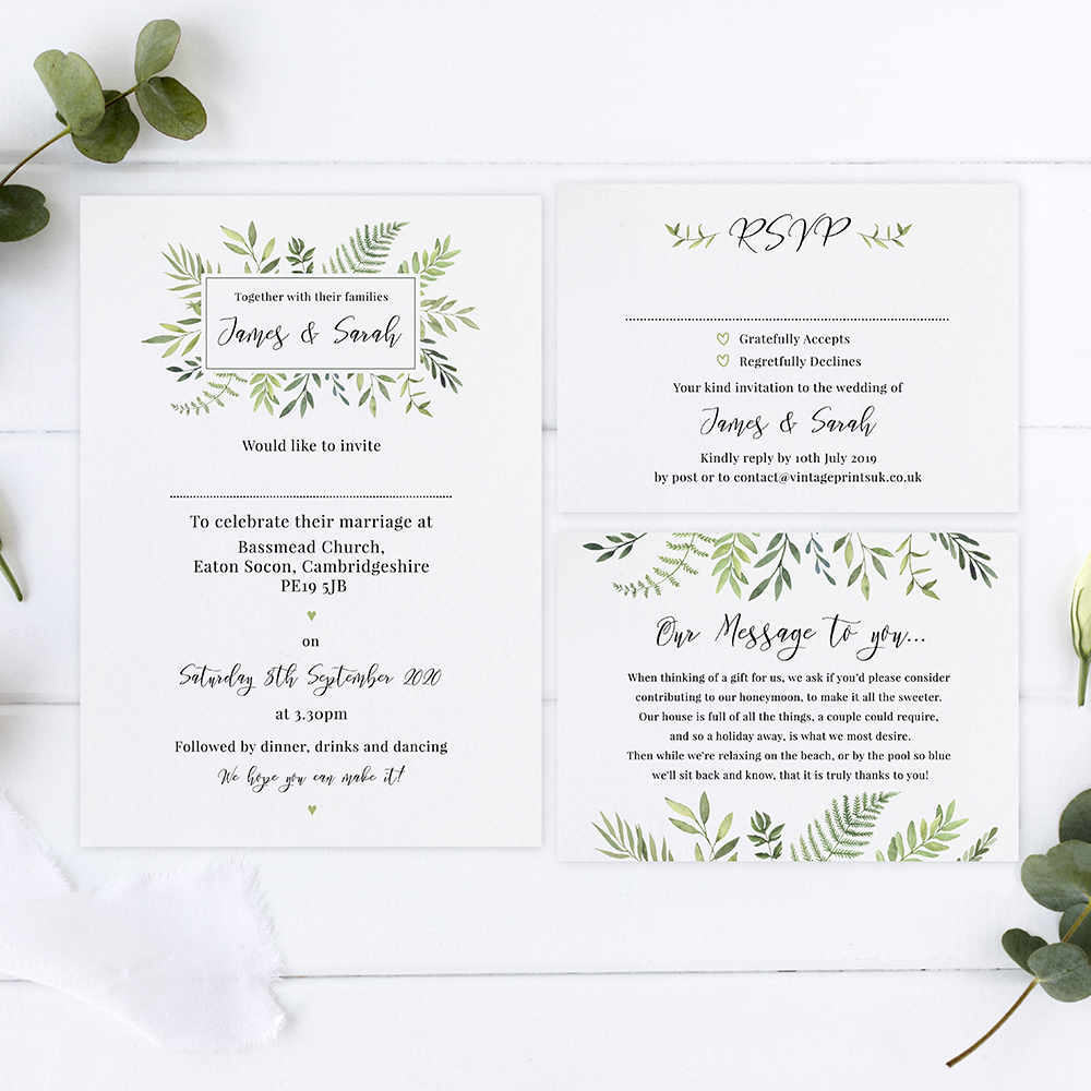 'Ophelia' Sleeve Invite Sample