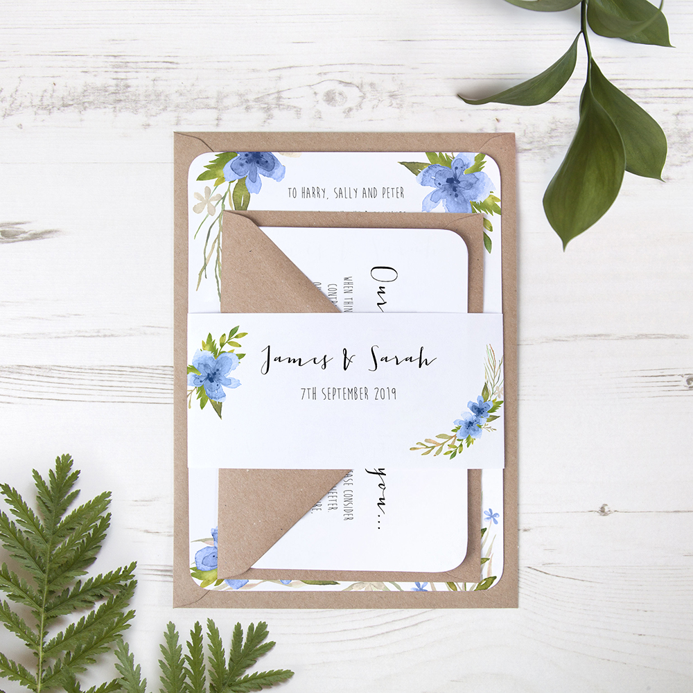 'Pretty in Blue' Sleeve Invite