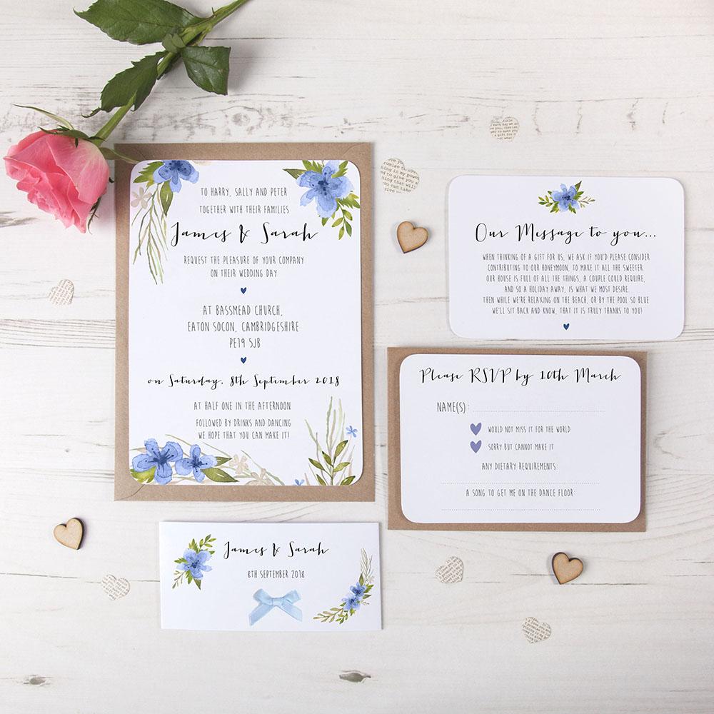 'Pretty in Blue' Sleeve Invite