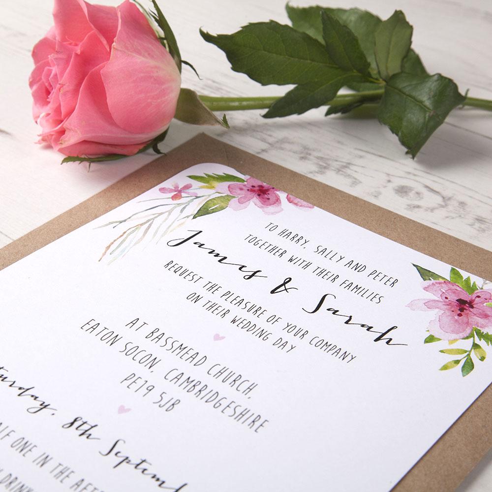 'Pretty In Pink' Sleeve Invite