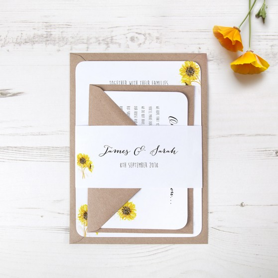 'Sunflower' Sleeve Invite