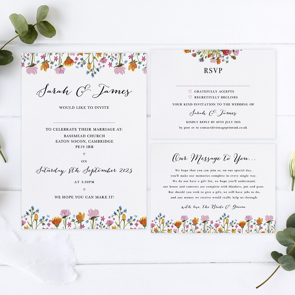 'Wild Floral' Sleeve Invite Sample