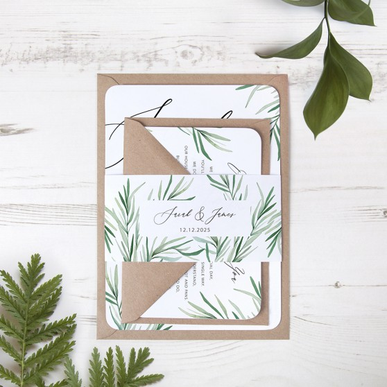 'Willow Eucalyptus' Sleeve Invite