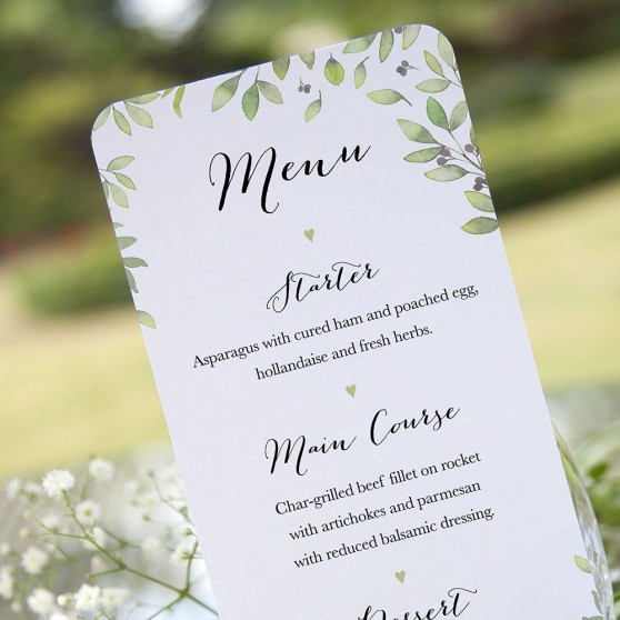 'Arabella' Slim Menu