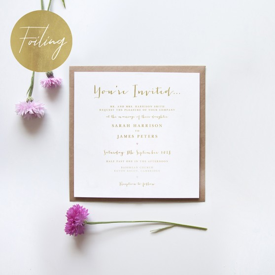 'Annie' Square Foil Invitation