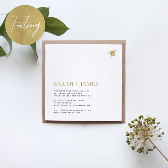 Square Foil Invites