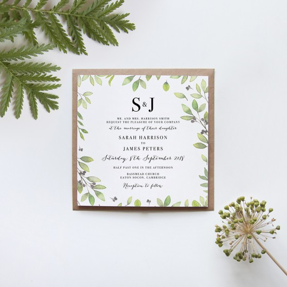 'Arabella' Square Invite Sample