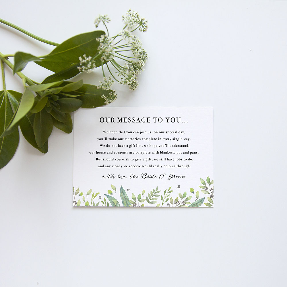 'Arabella' Gatefold Invite Sample