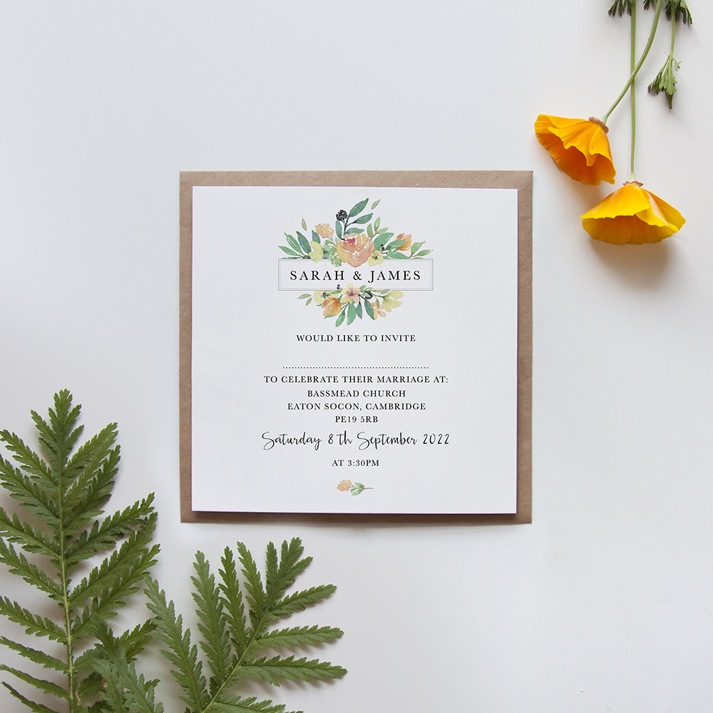 'Bella' Square Invite Sample