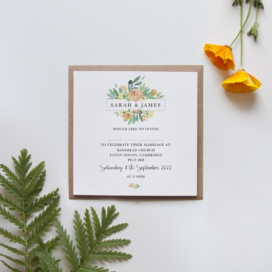 'Bella' Square Invite