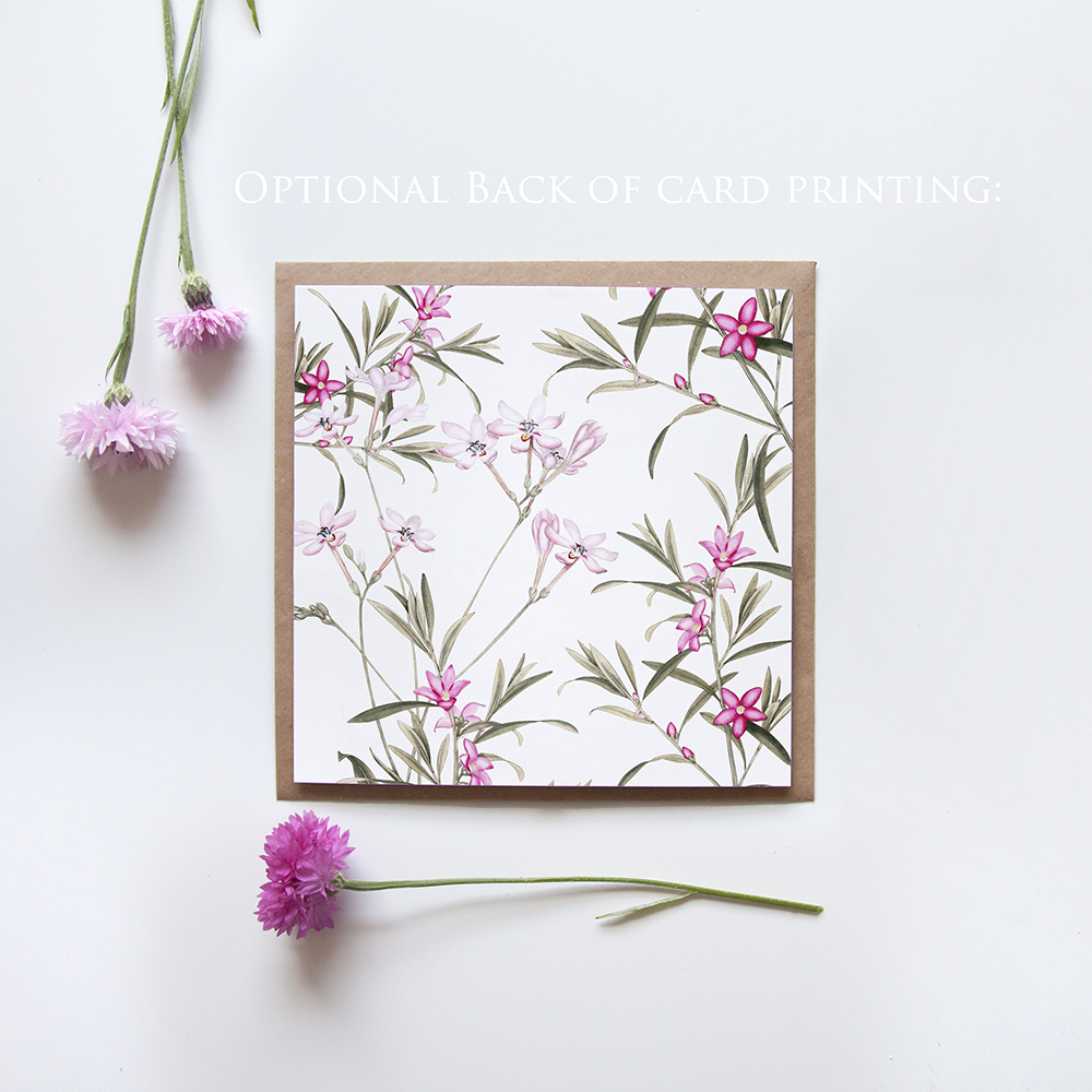 'Pink Botanical' Square Invitation Sample