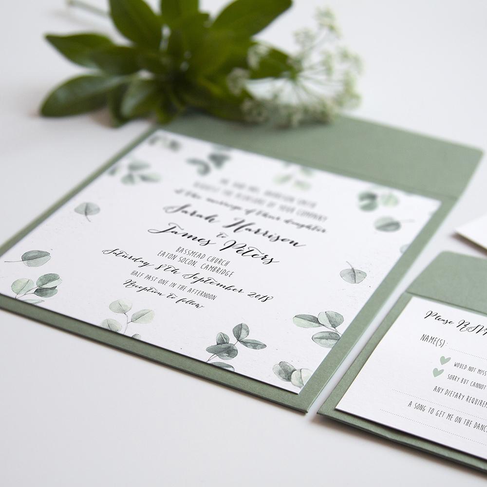 'Eucalyptus' Square Invite Sample