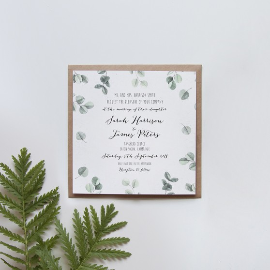 'Eucalyptus' Square Invite Sample