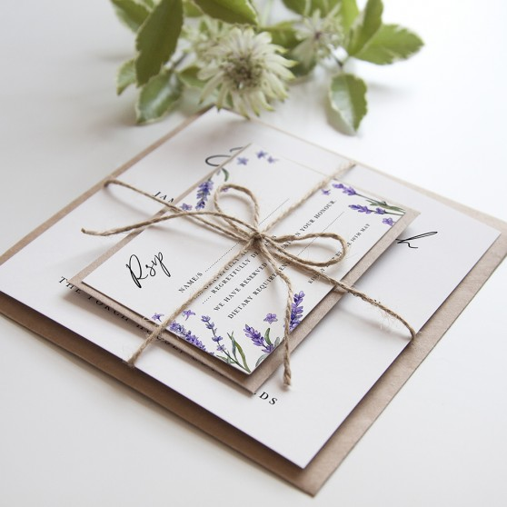'Lavender' Square Invitation Sample
