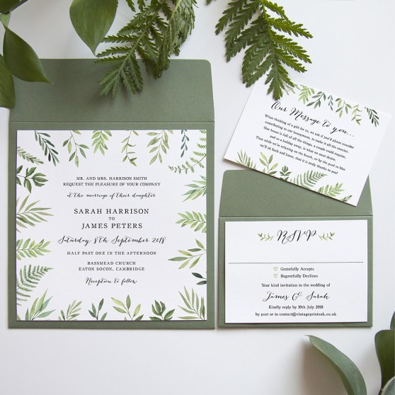 'Libby' Square Invite Sample