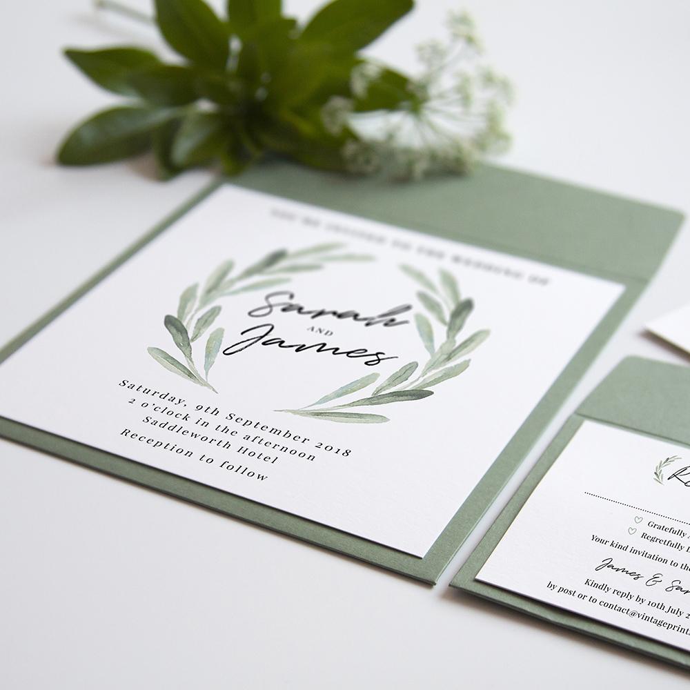 'Olive' Square Invite