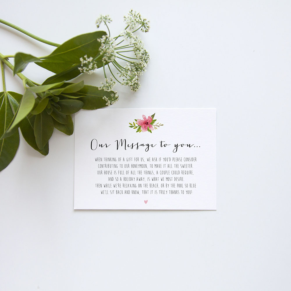 'Pretty In Pink' Sleeve Invite Sample