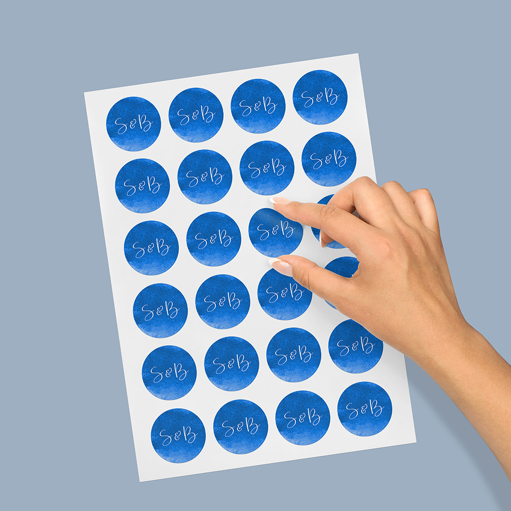 Pack of 'Blue Watercolour Splash' Stickers