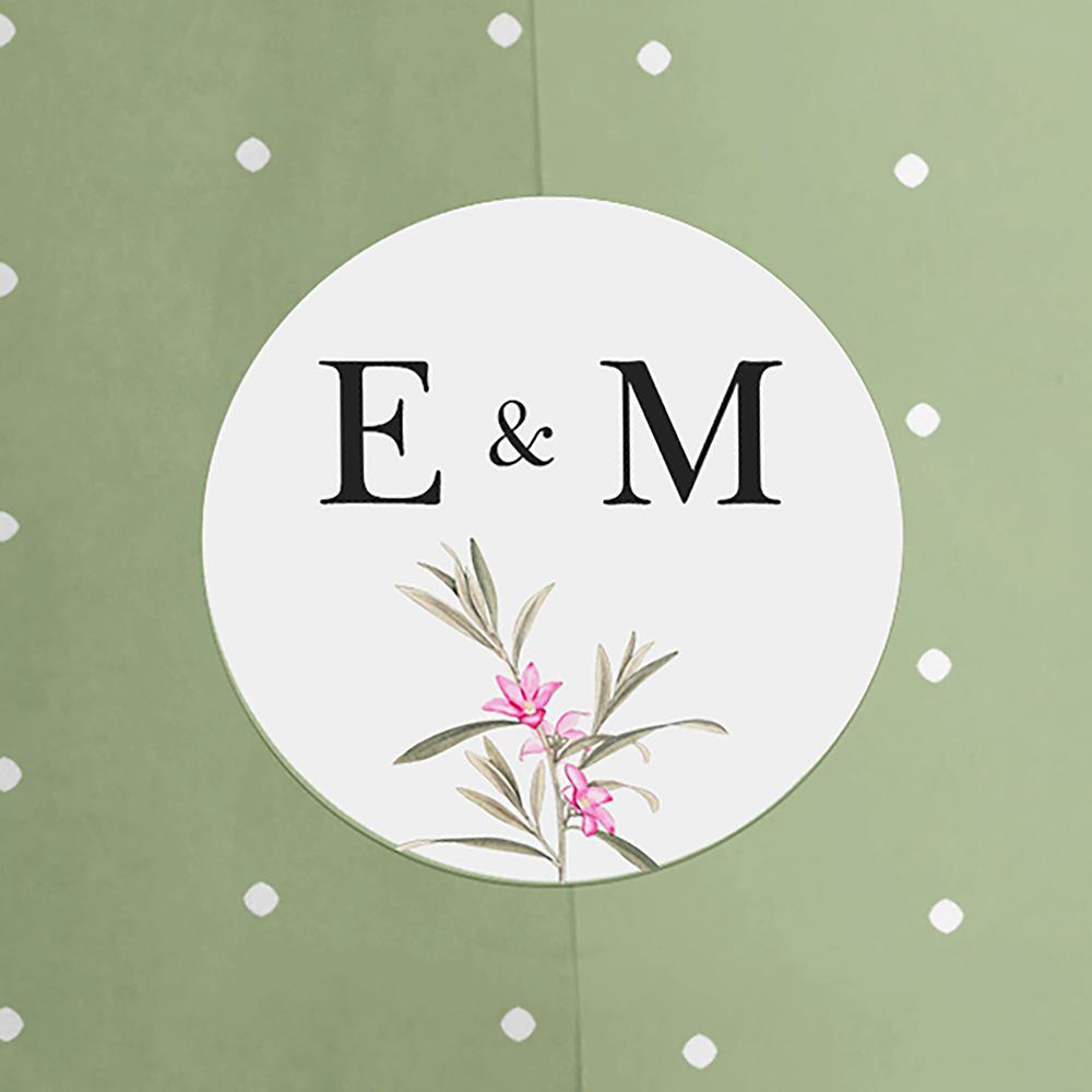 Pack of 'Pink Botanical V1' Stickers