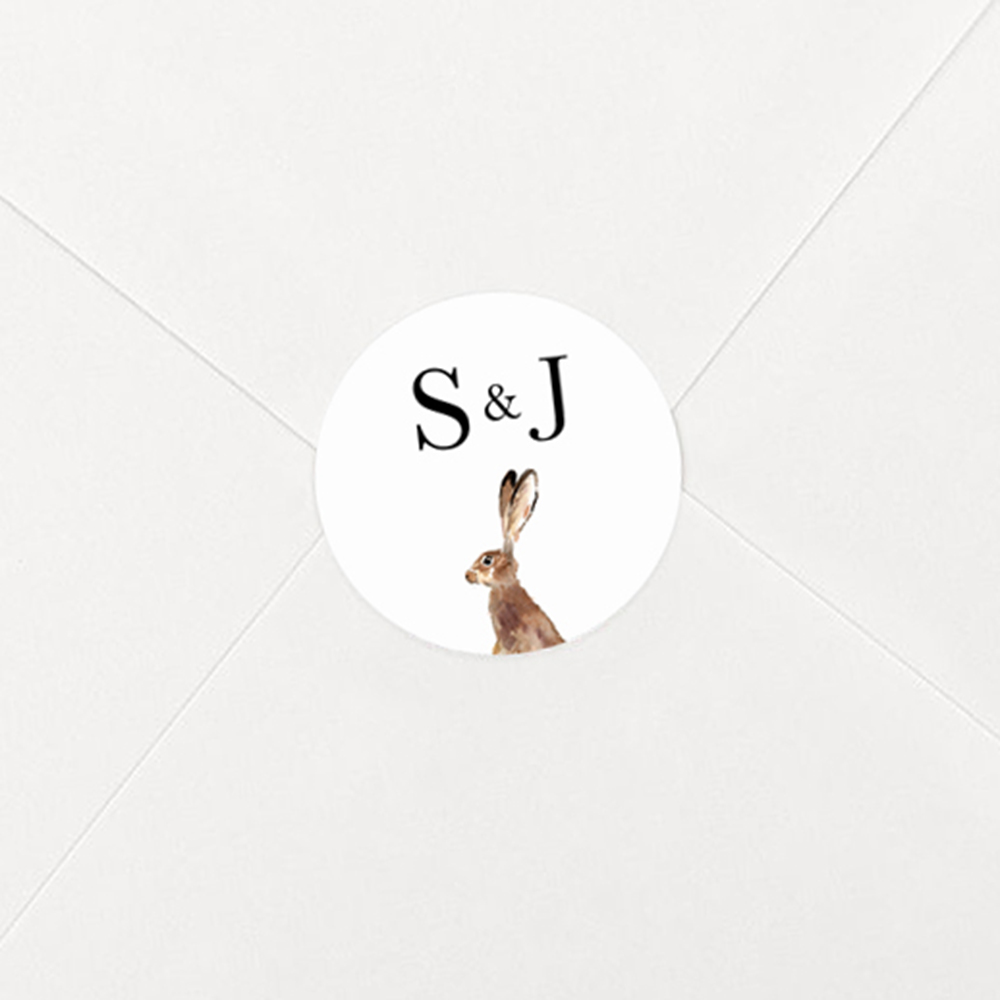 'Christmas Hare' Sleeve Invite Sample