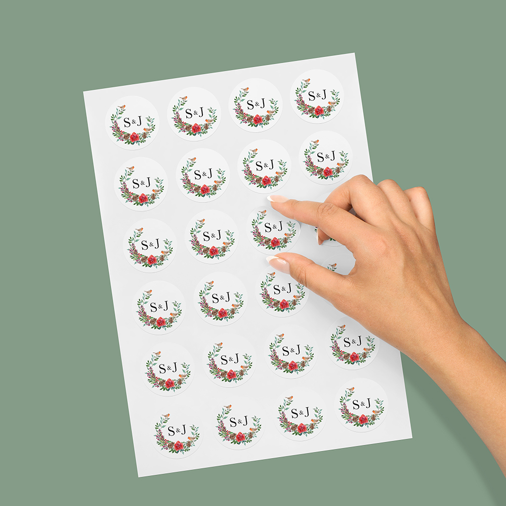 Pack of 'Christmas Holly' Stickers