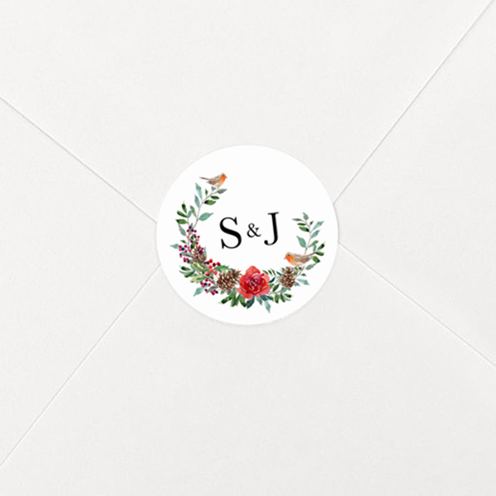 'Christmas Holly' Hole-punched Save the Date