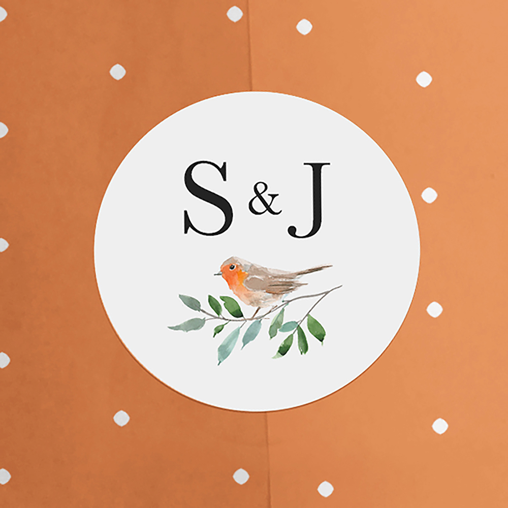 'Christmas Robin' Sleeve Invite Sample