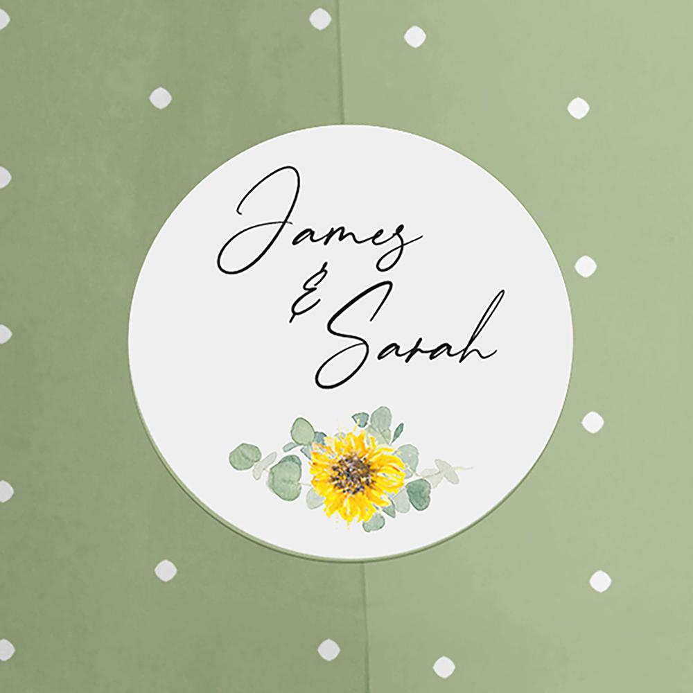 Pack of 'Sunflower Eucalyptus' Stickers