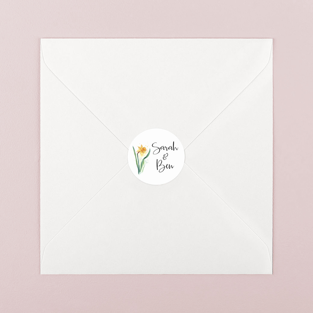 Pack of 'Daffodil' Stickers