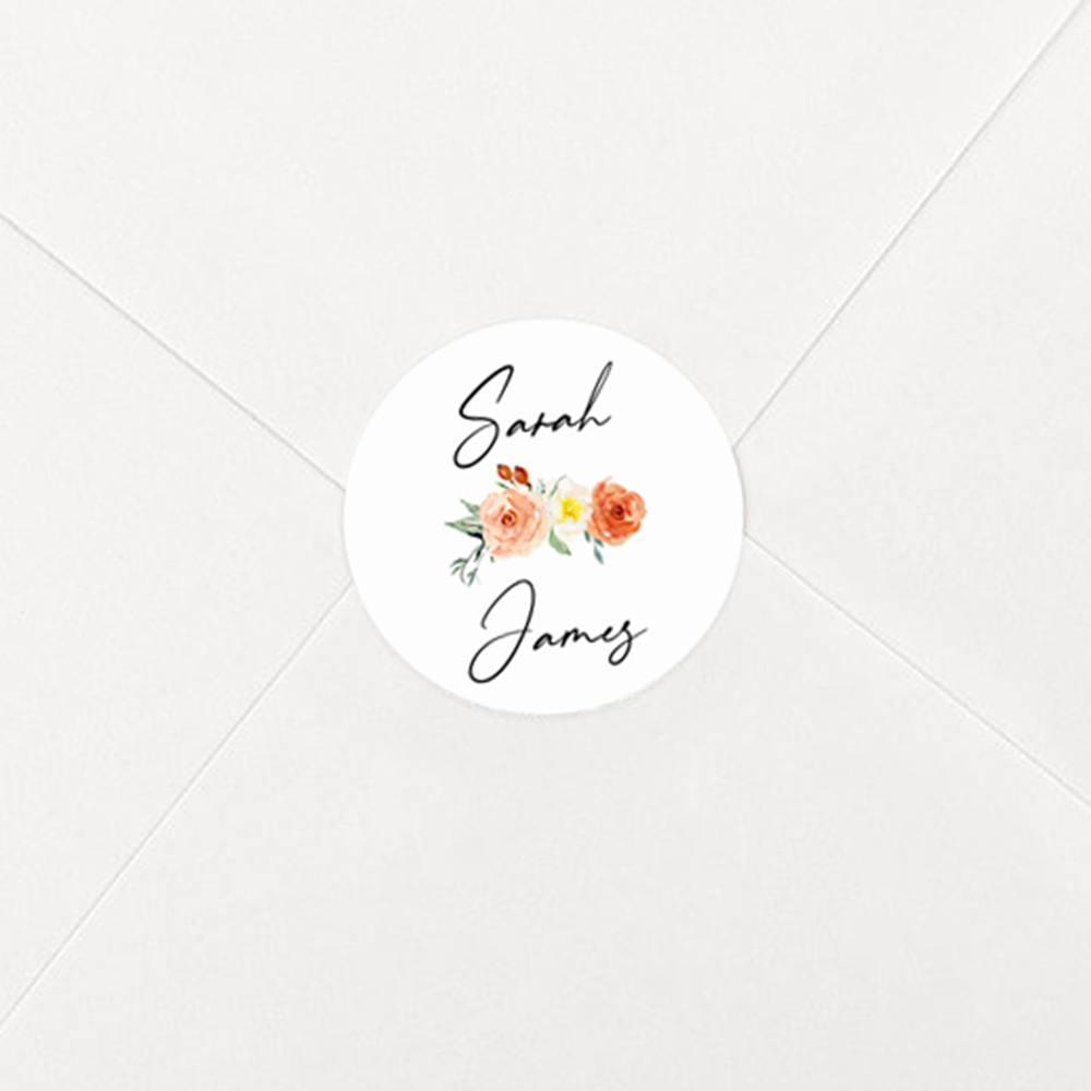 Pack of 'Classic Dahlia Rose' Stickers
