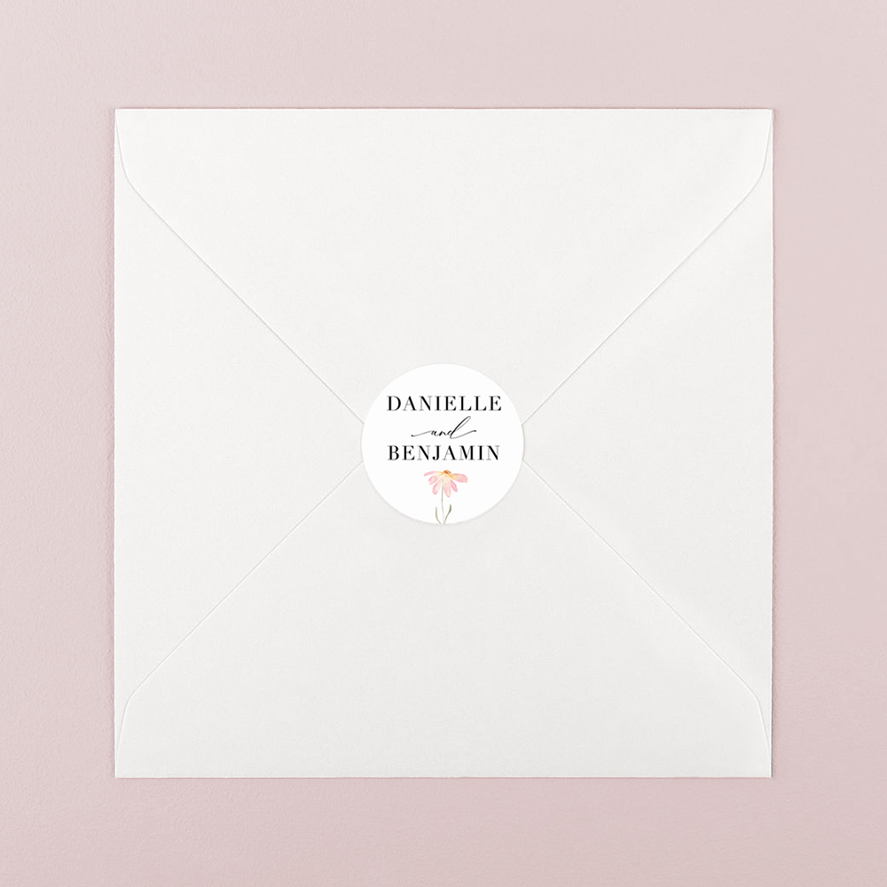 Pack of 'Daisy Pink' Stickers