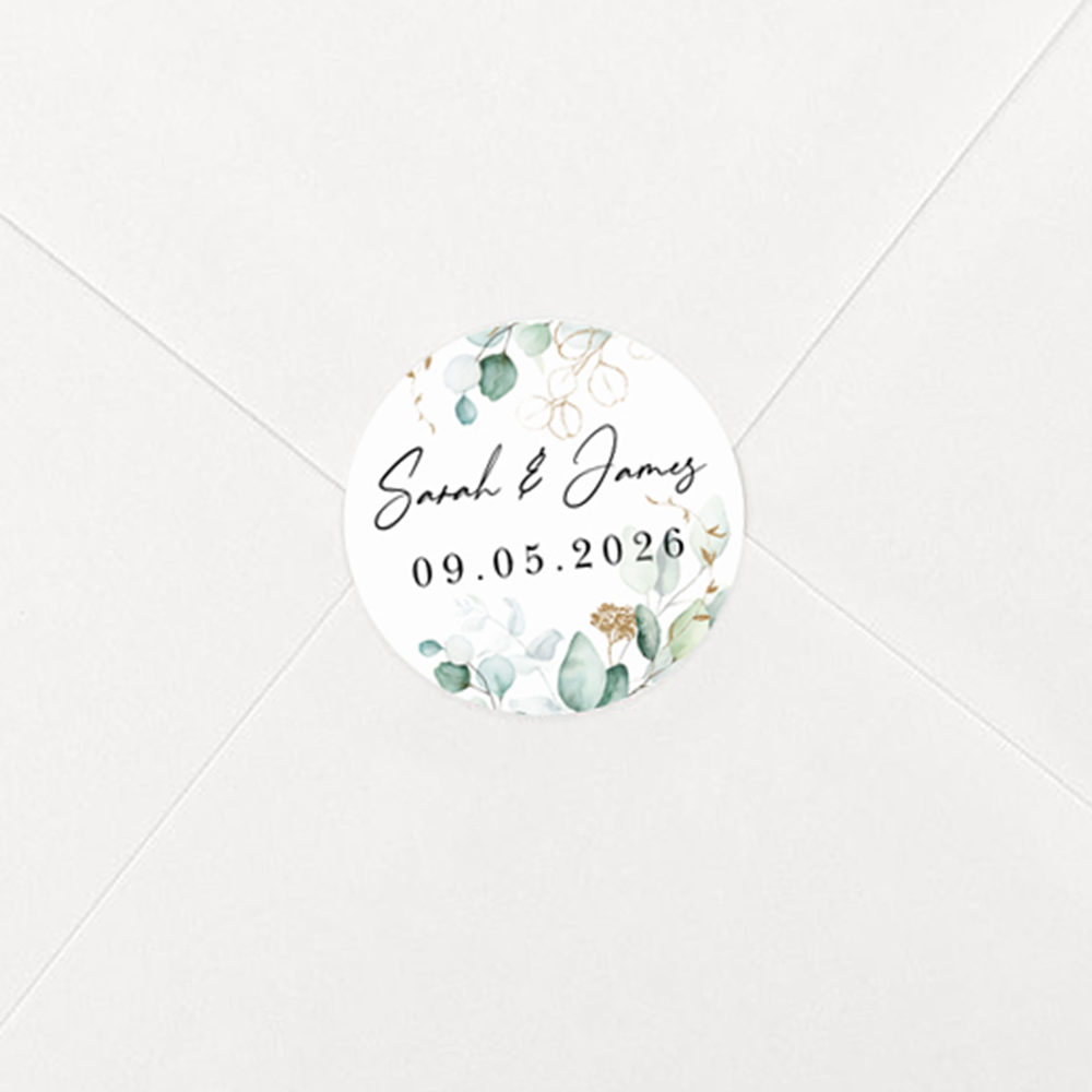 Pack of 'Green & Gold Eucalyptus' Stickers