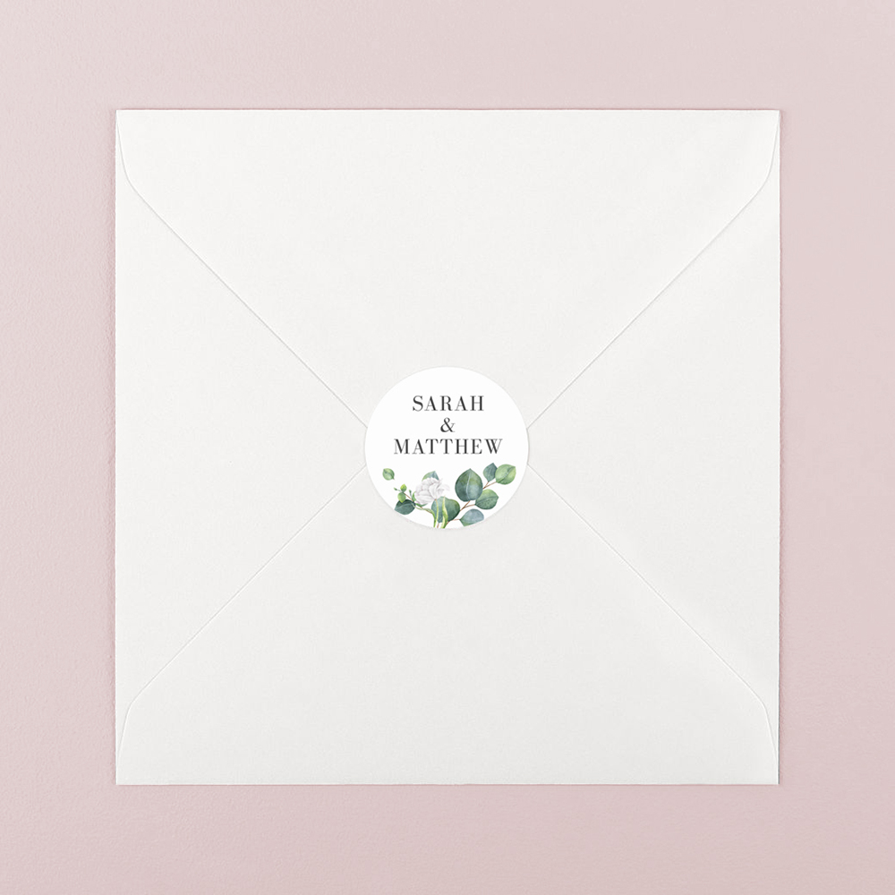 Pack of 'Eucalyptus White' Stickers