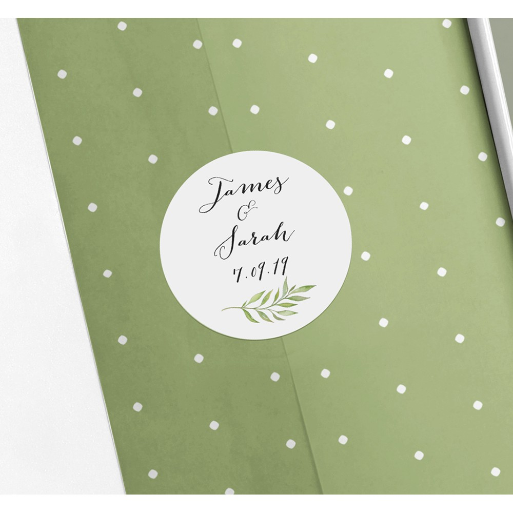 Pack of 'Green Leaf' Stickers