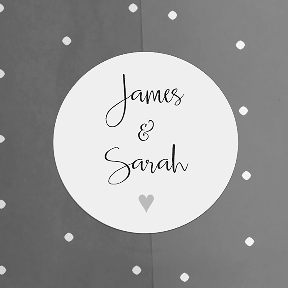 'Grey Heart Bunting' Hole-punched Invite