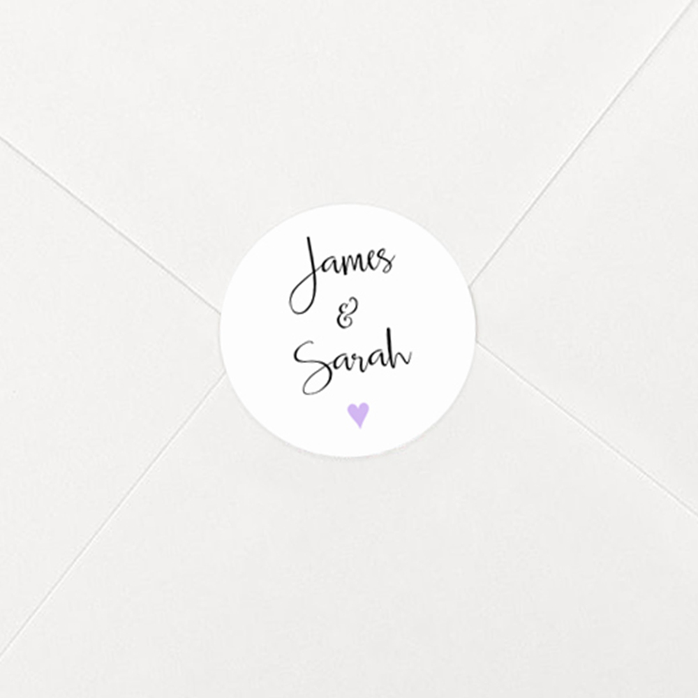 Pack of 'Lavender Heart' Stickers