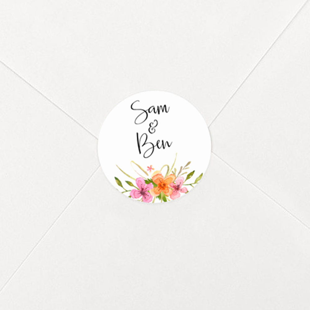 Pack of 'Multi Floral Watercolour' Stickers